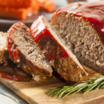Homemade Ground Beef Meatloaf with Ketchup and Spices ** Note: Shallow depth of field